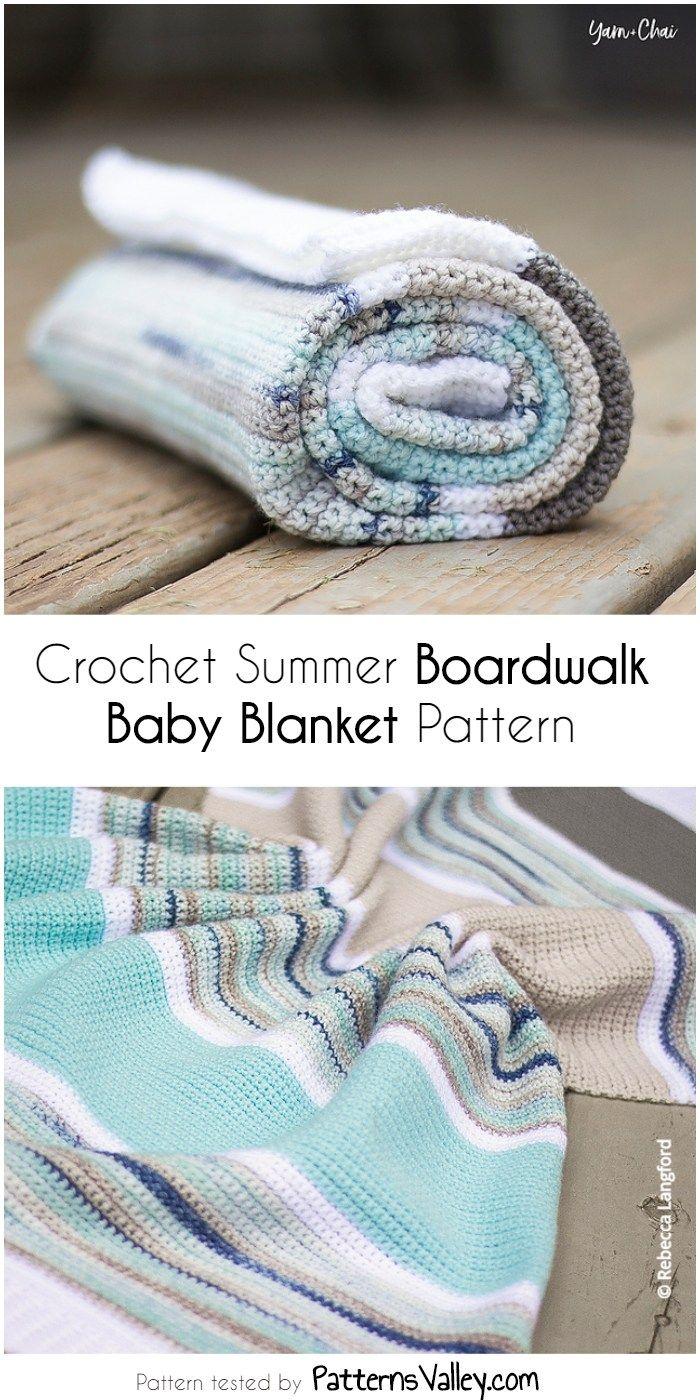 Crochet Summer Boardwalk Baby Blanket Pattern | Pinterest | Mantita ...