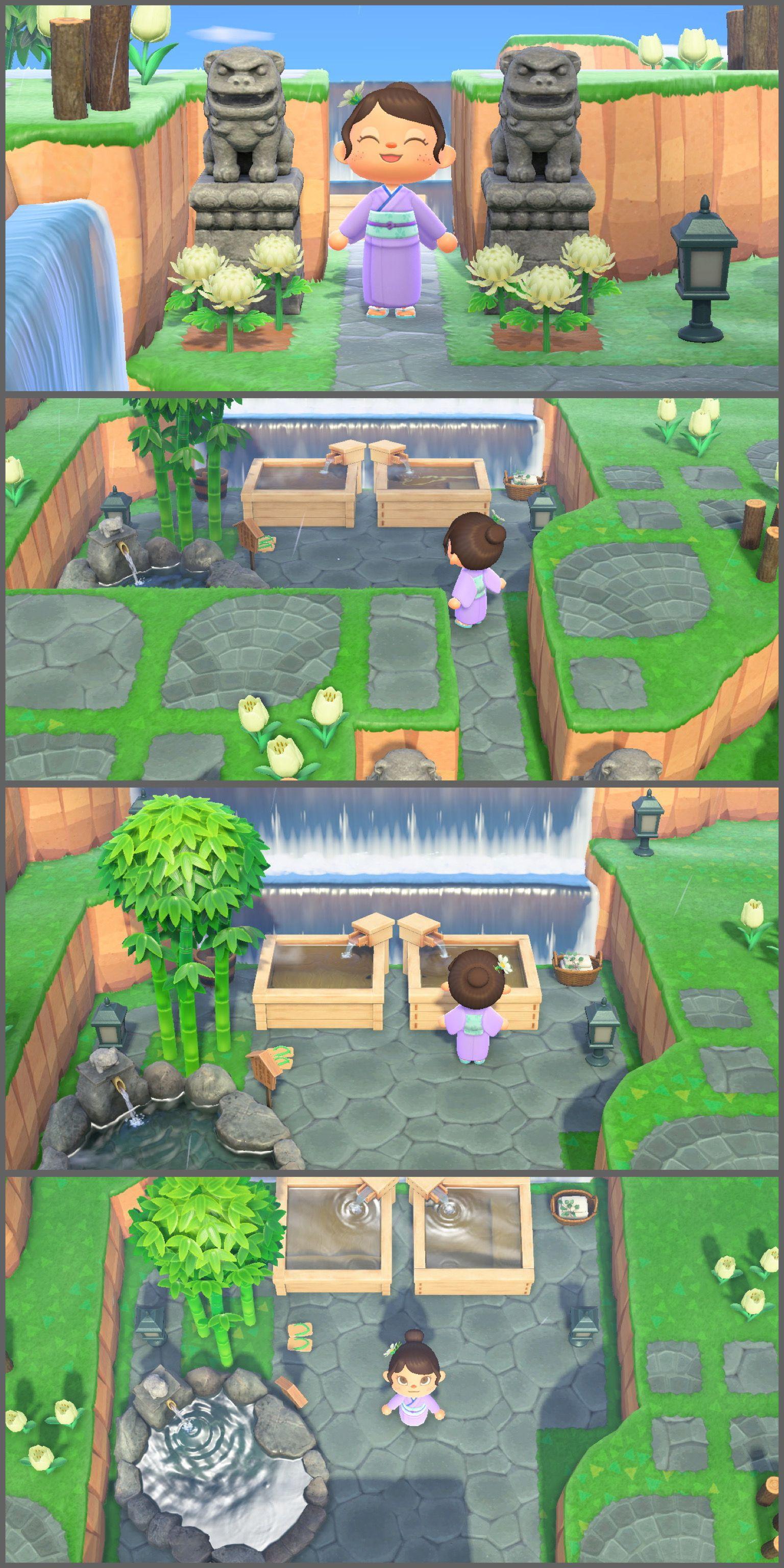Acnh Secret Hot Spring Japanese Animals New Animal Crossing Animal Crossing Game