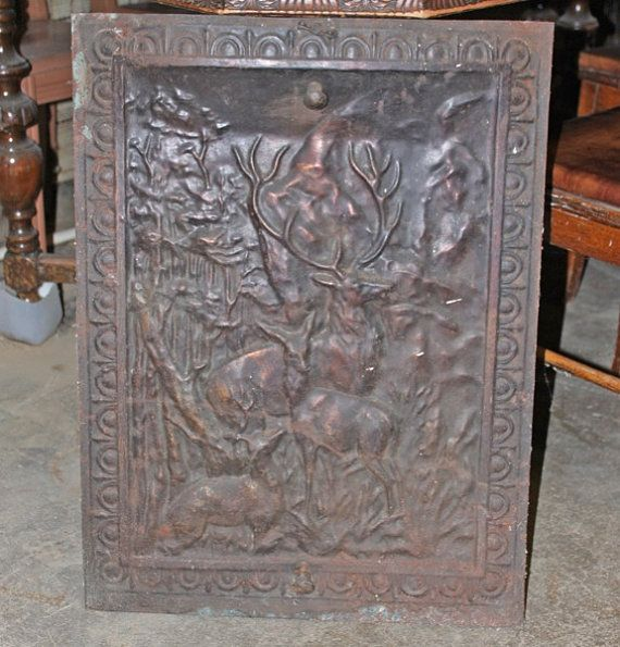 Vintage Antique Tin Fireplace Cover by FolkLura on Etsy, $135.00 ...