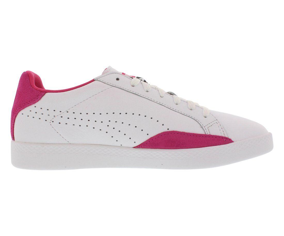 14e7bc146525 PUMA Womens Match Lo Basic Sports Wns Tennis Shoe White Fuchsia Patent 6.5  M US  WomensTennisRacquetShoes