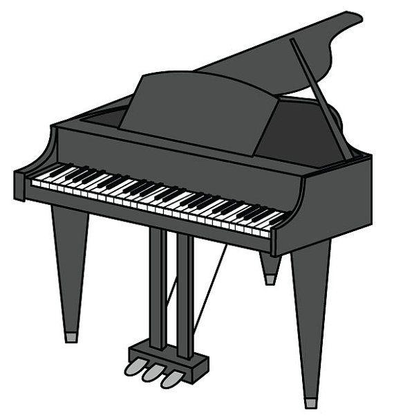 Piano Clip Art Piano Vector Graphic Digital Download