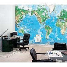World map 8ft x 13ft wall mural environmental graphics toys r world map 8ft x 13ft wall mural environmental graphics toys r us gumiabroncs Image collections