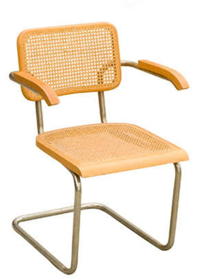 """marcel breuer wicker back chrome """"cesca"""" chairs by stendig for"""