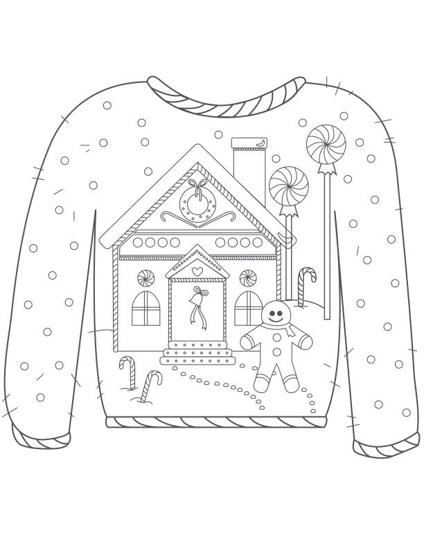 Ugly Sweater coloring pages | crafts | Dibujos, Colores, Dibujos ...