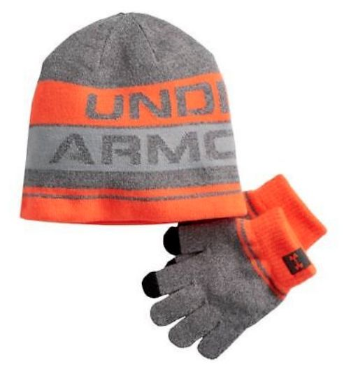 Gloves and Mittens 57885  New Boys Youth Under Armour Hat And Glove Set  Orange One Size Fits Most -  BUY IT NOW ONLY   12.99 on  eBay  gloves   mittens ... 7a1bca83ae0