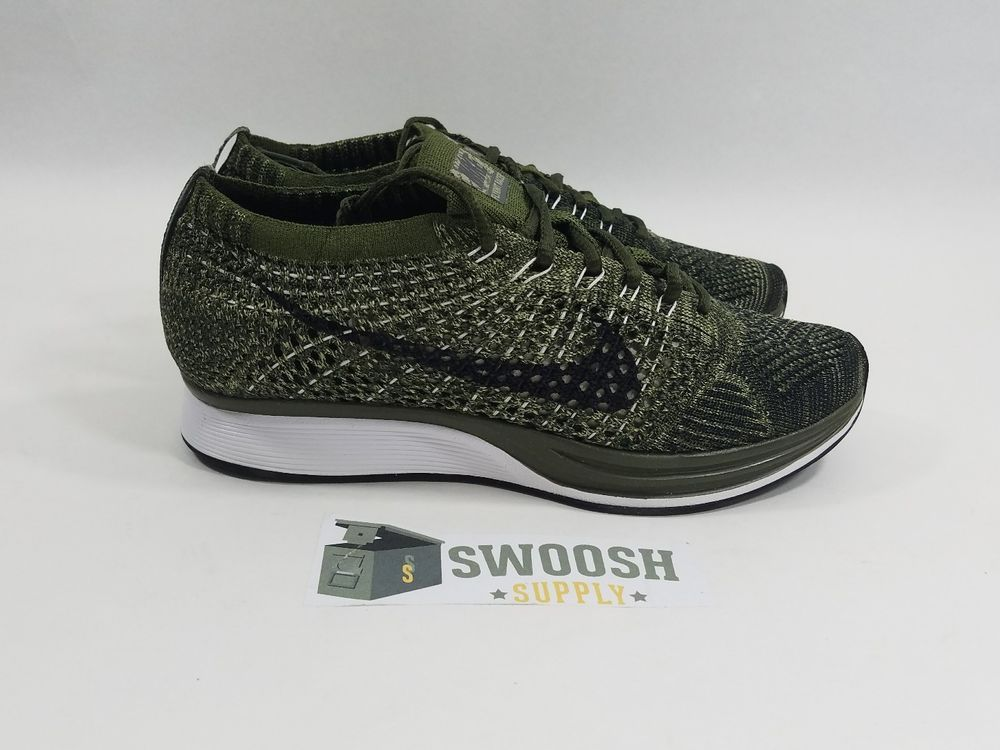 Nike Flyknit Racer Rough Green/Black 862713-300 Running Men's 8 Women's 9.5  #
