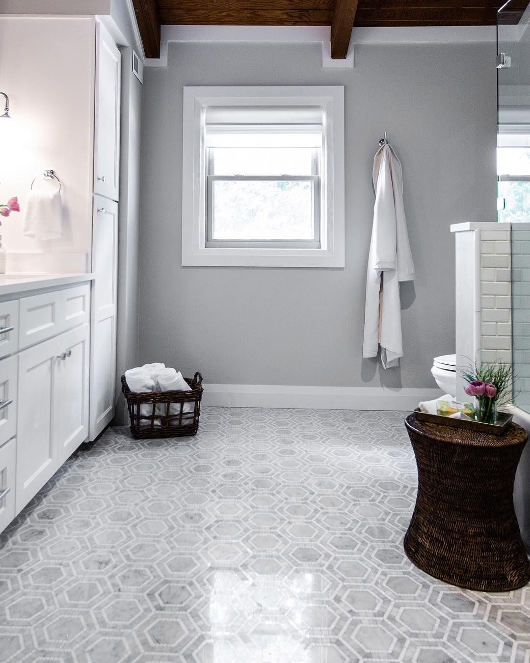 Property Brothers On Instagram Tiles For Days Here S A Sneak Peek At A Bathroom Reno From An U Small Bathroom Remodel Bathrooms Remodel Bathroom Design