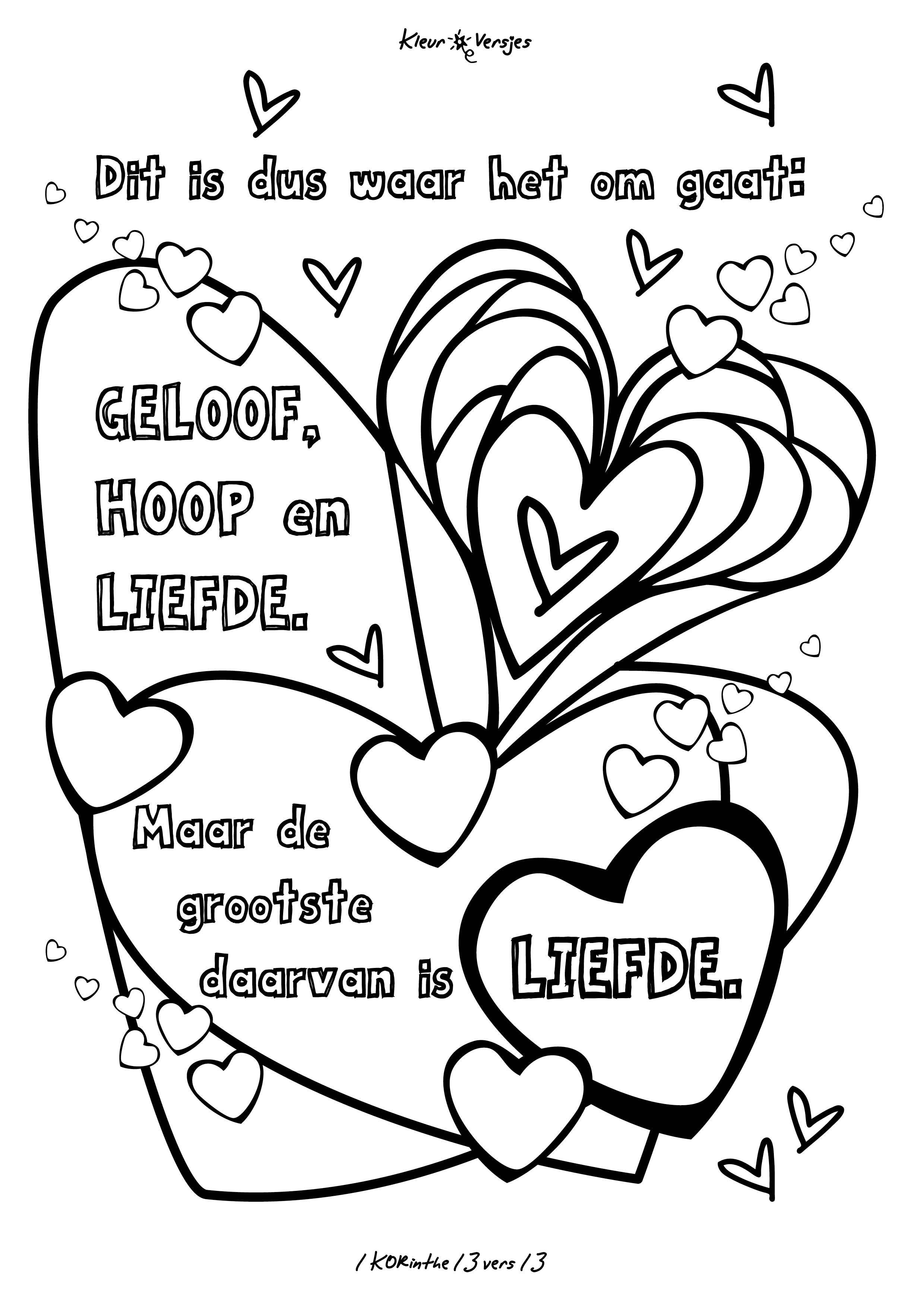 Luxe Kleurplaten Met I Love You