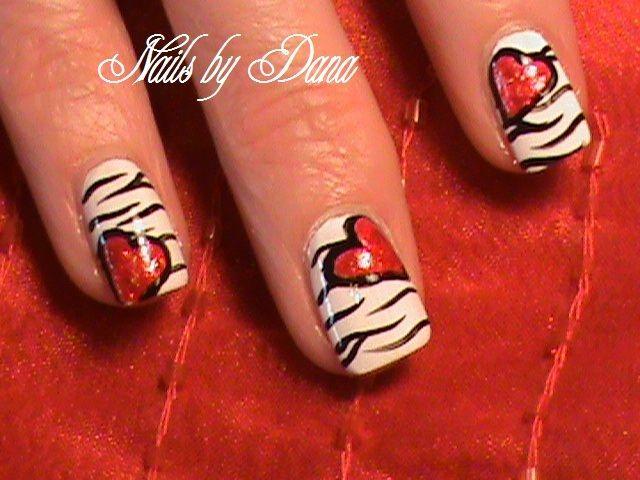 heart nails | Free Design Valentine\'s Heart Nails :: Nail Art Design ...