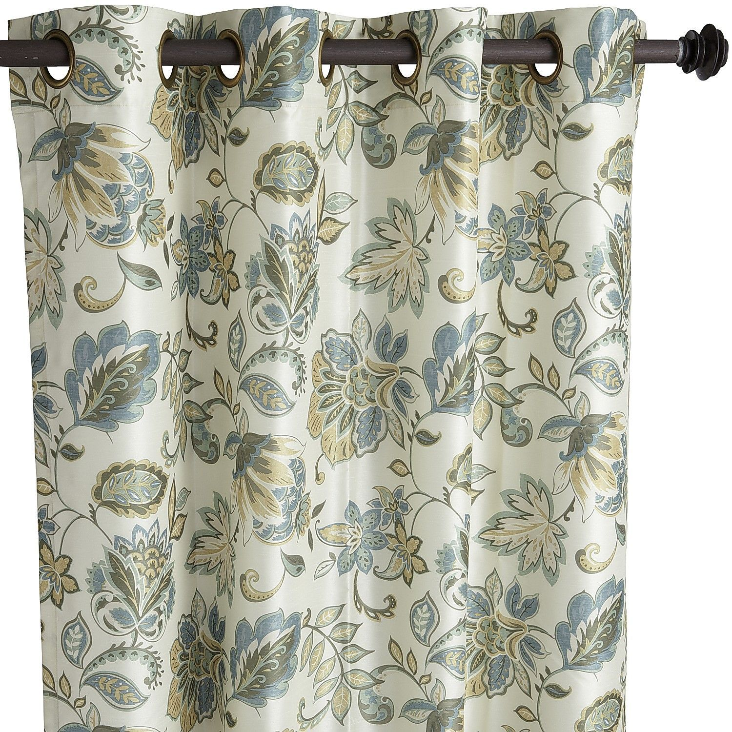 Glencove Floral Blue 84 Grommet Curtain Curtains Living RoomsDining