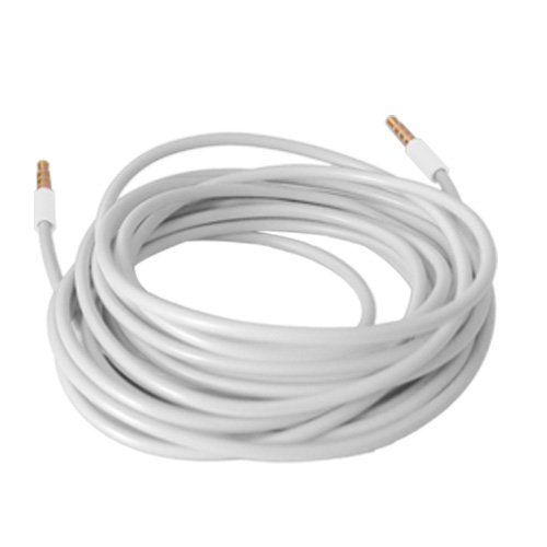 3 10FT 3.5MM MALE JACK AUX STEREO CABLE CORD IPAD IPHONE IPOD TOUCH MP3 CD WHITE