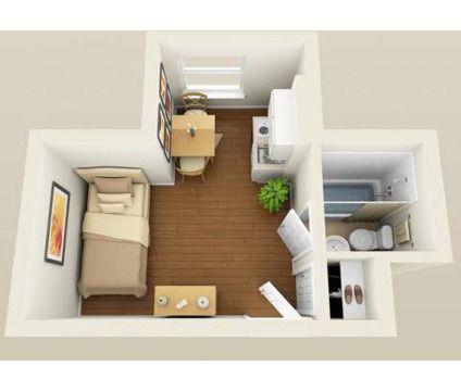 Pin de zindia mart nez alvarado en hogar casas peque as for Diseno de apartamento de una habitacion