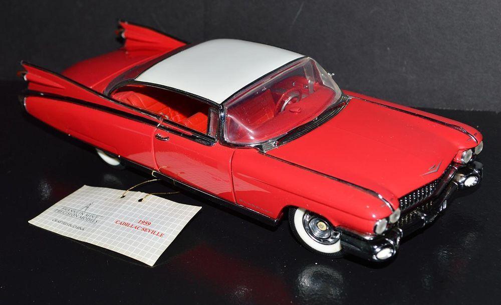 Franklin Mint 1/24 Die Cast Car 1959 Cadillac Eldorado Seville Red ...