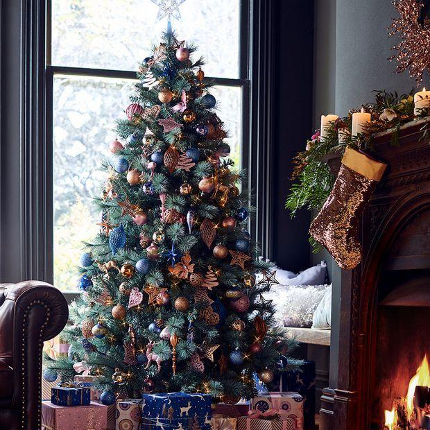 Glam Luxe Christmas Tree Christmas Lights Outside Blue Christmas Decor Christmas Lights
