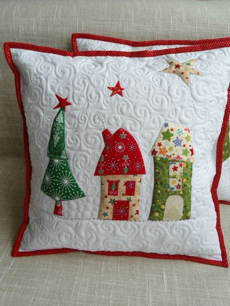 Quilt-Kissenbezug+Weihnachten+von+Patchwork+Kiste+auf+DaWanda.com #tischsetnähen