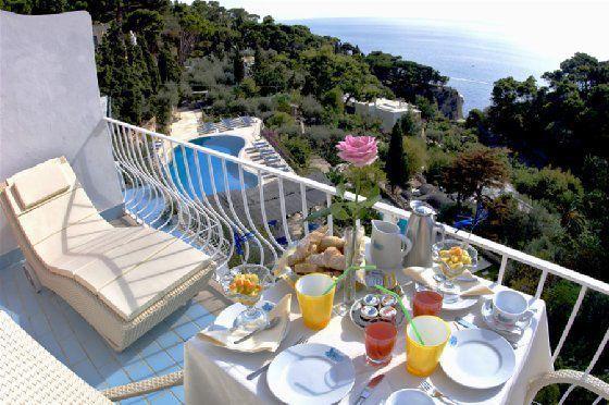 Balcony View, La Vega Hotel, Capri Italy.