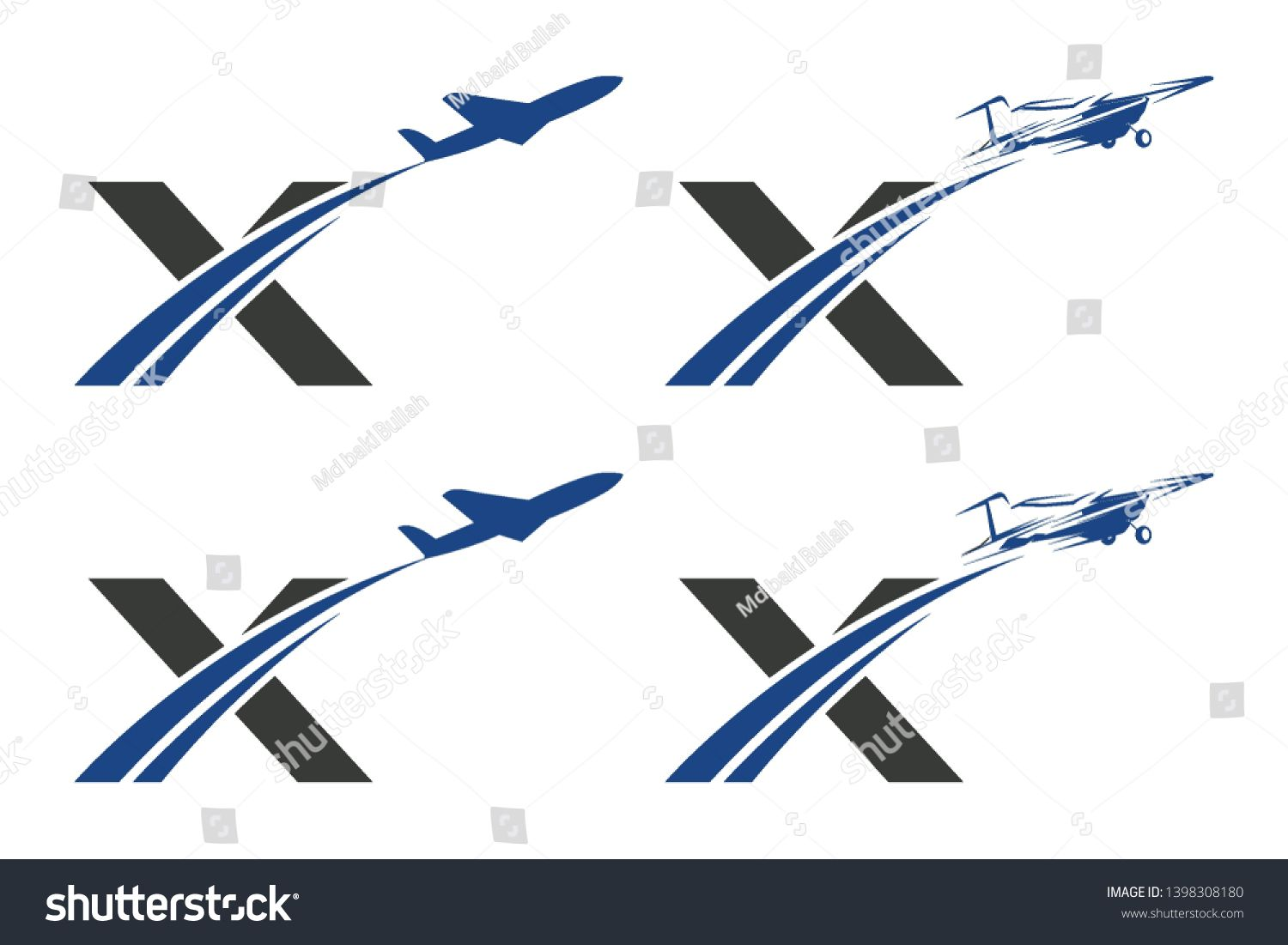 X Letter with Aviation Logo Design Sponsored , Ad,