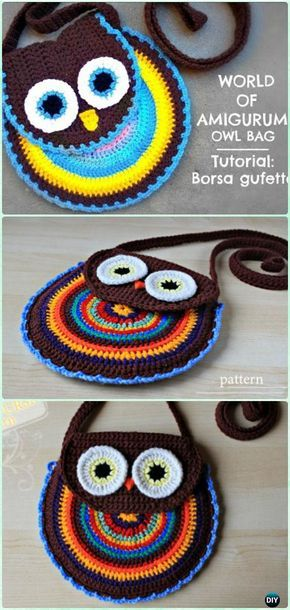 Crochet Owl Bag Pattern Video Crochet Kids Bags Free Patterns