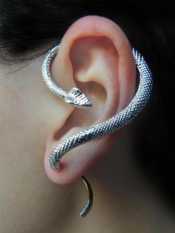 1PC Retro Cool Punk Jewelry Fashion Snake Earrings Ear Cuff