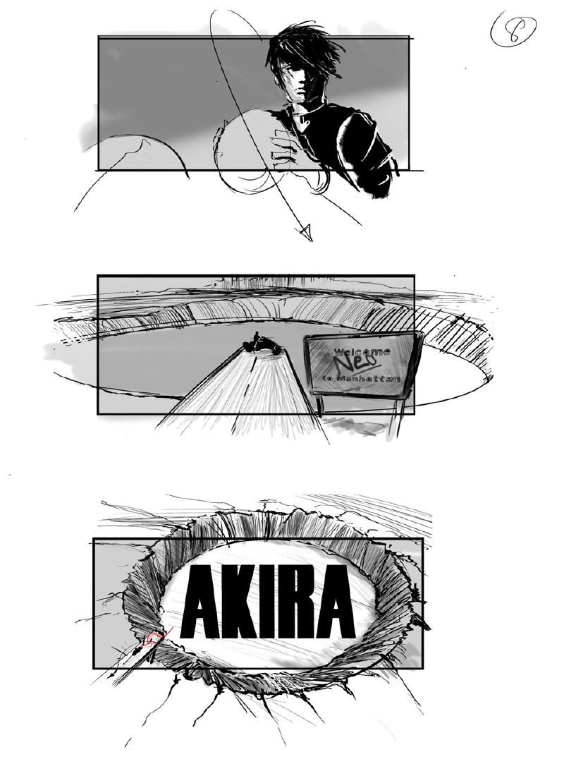 Storyboards Surface From Delayed Live Action 'Akira' Movie By Artist Jeffrey Errico
