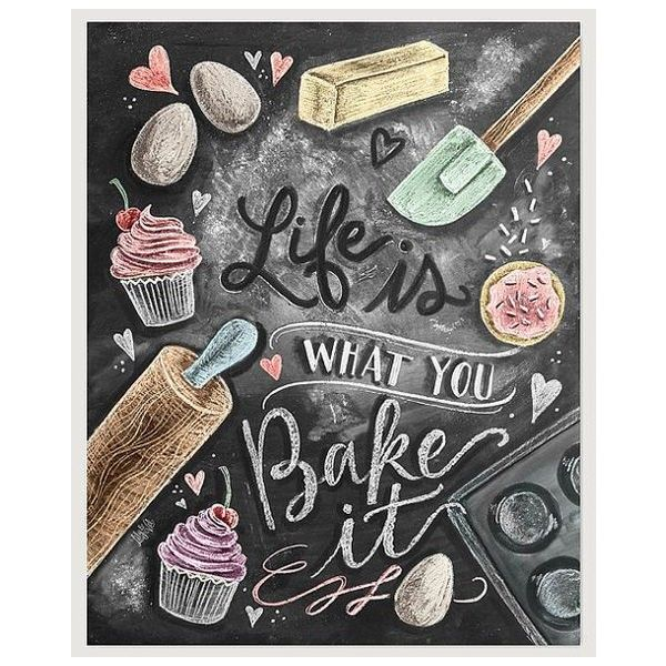 Kitchen Chalkboard Art ❤ Liked On Polyvore Featuring Home, Home Decor, Wall  Art,