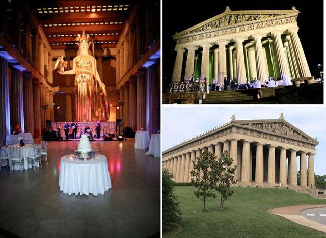 10 Great Wedding Venues By Ashley S Bride Guide Includes Several Nearby Es Including The Parthenon Nashville