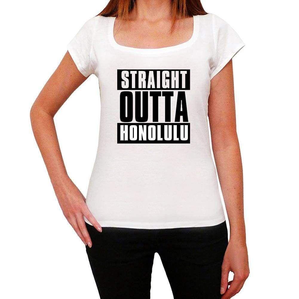Straight Outta Honolulu, Women's Short Sleeve Round Neck T