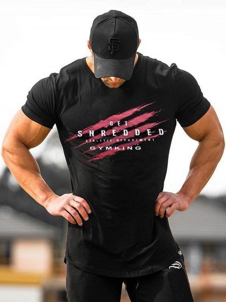 Fashion Men/'s Gym Tops Bodybuilding Workout Short Sleeve T-Shirt Running Fitness