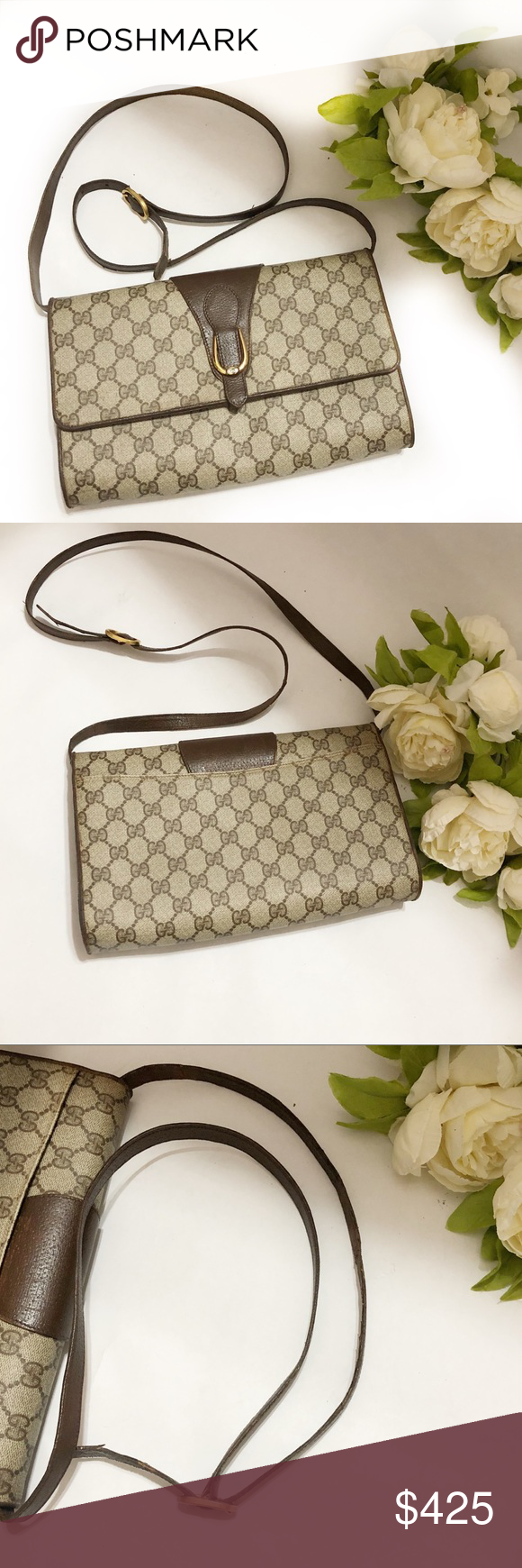 4b6a789295df Gucci pattern GG vintage crossbody bag Gucci vintage pattern GG Crossbody  bag. In excellent condition