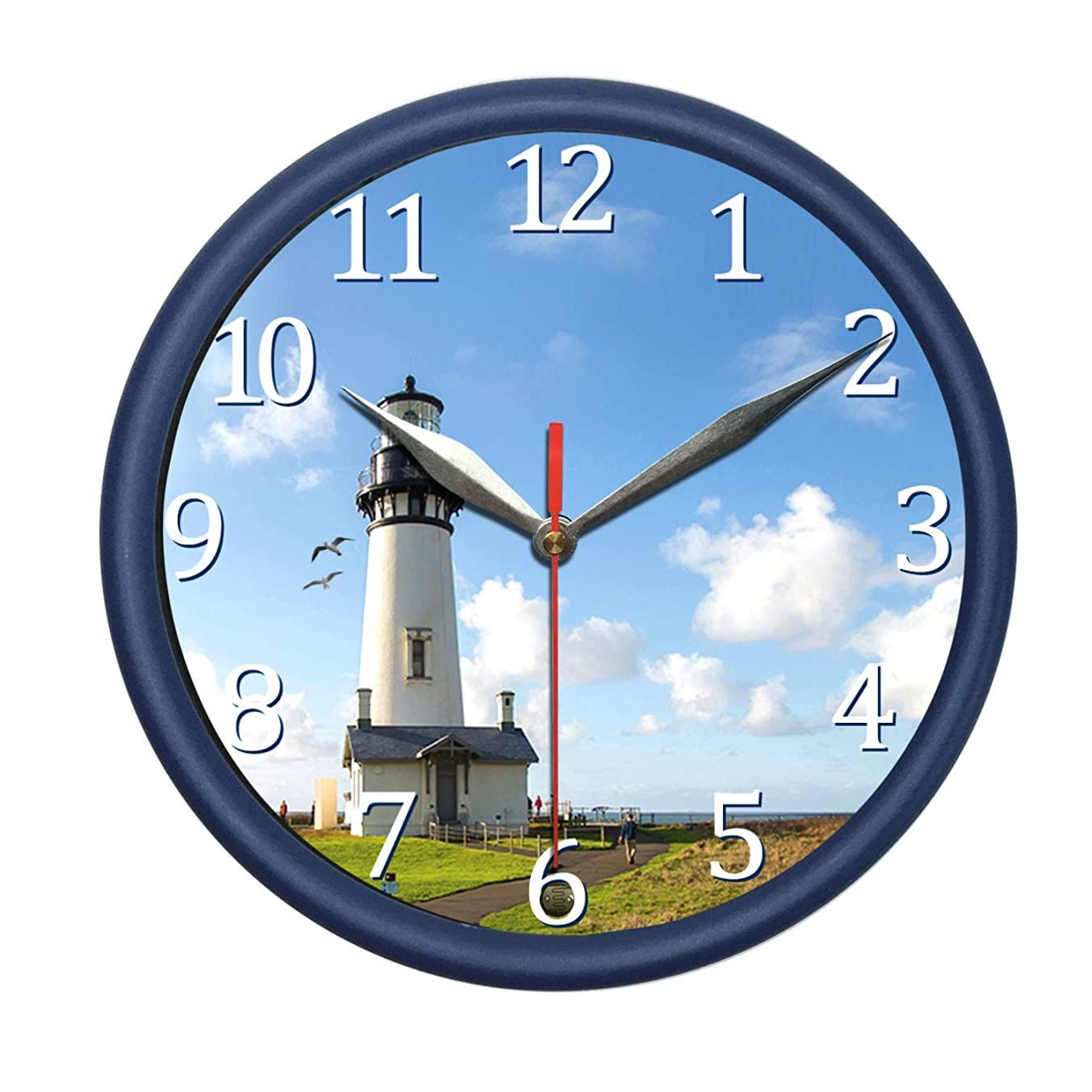 Pondtech Lighthouse Wall Clock With Sea Gull Sound And Light Decorate Your Bedroom Kitchen Or Office With Stylish Wall Clock In 2020 Clock Wall Clock Diy Clock Wall