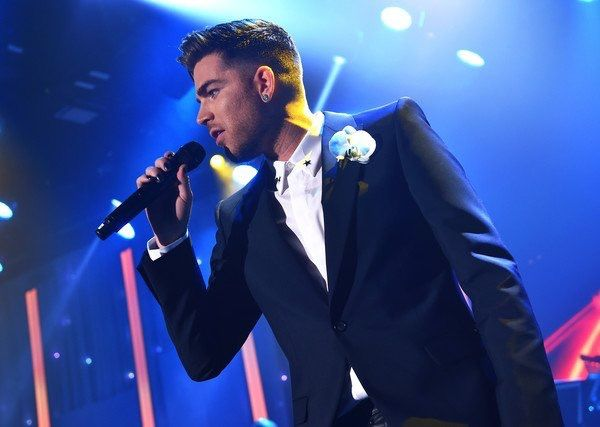 Adam Lambert  This look is damn cool