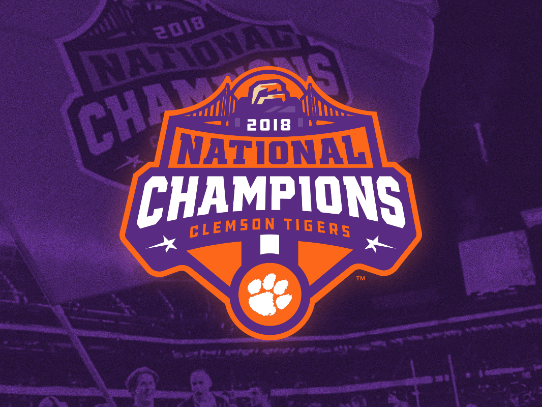 Clemson Designs Themes Templates And Downloadable Graphic Elements On Dribbble In 2020 National Champions National Champs Clemson