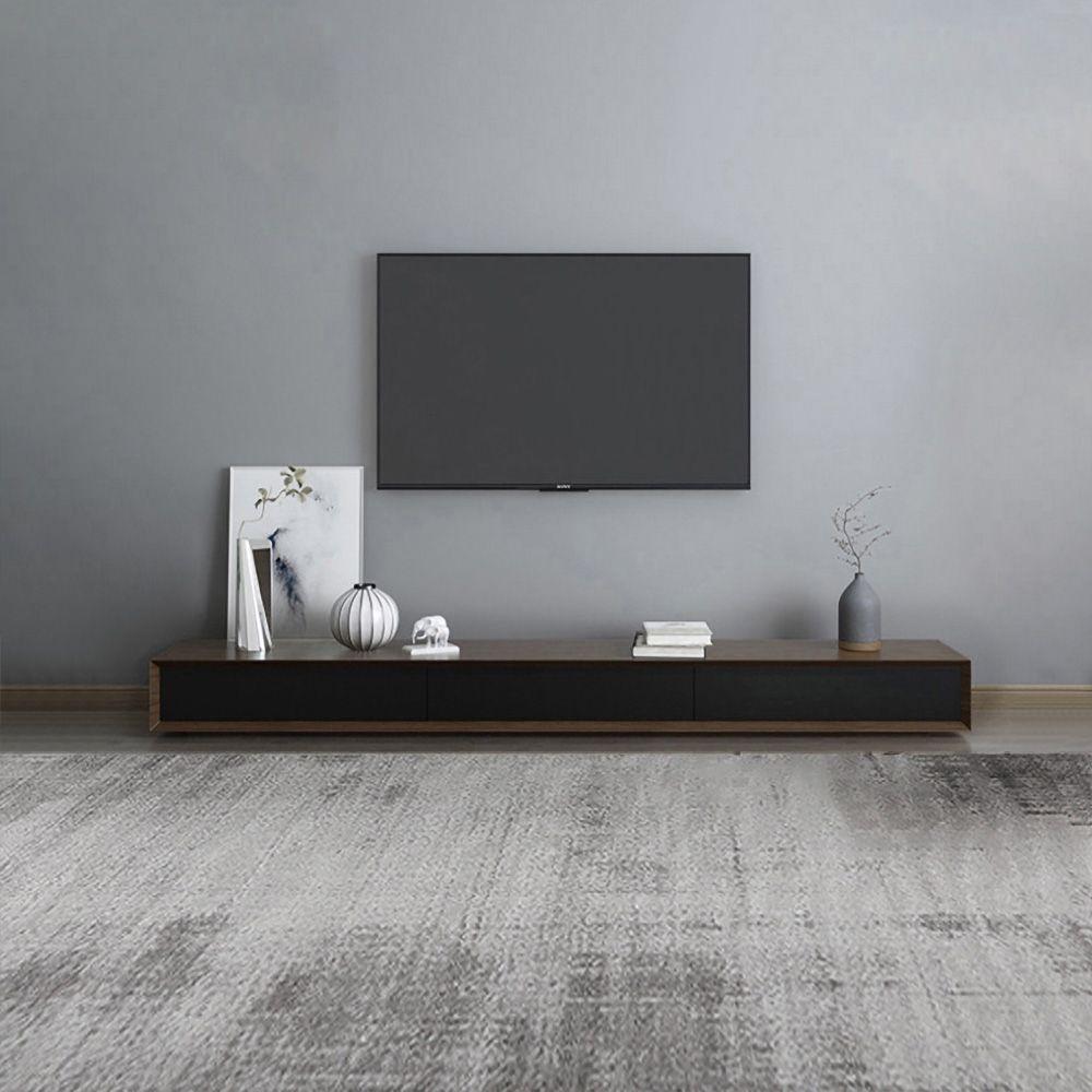 Moderner 94 Zoll Nussbaum Tv Stander Rechteck Medienstander Walnuss Tv Konsole Mit 4 Schubladen In 2021 Walnut Tv Stand Tv Console Tv Console Design