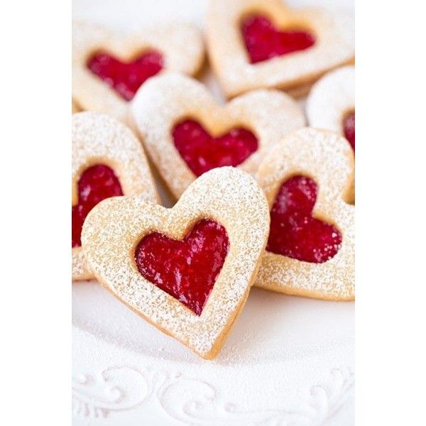 Linzer Cookies ❤ liked on Polyvore featuring home and kitchen & dining