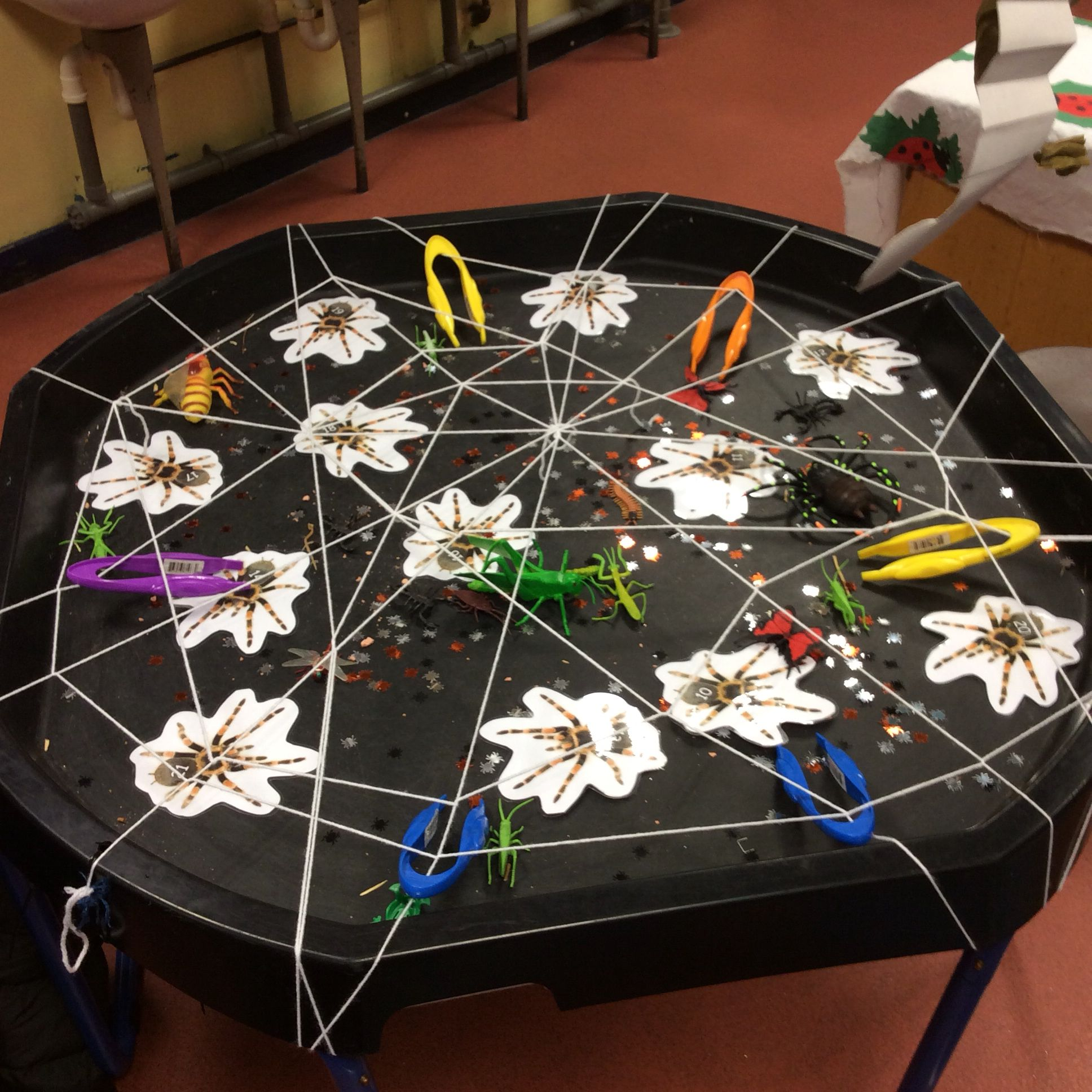 Eyfs Challenge Maths Linked To Rainforest Spiders Order To 20