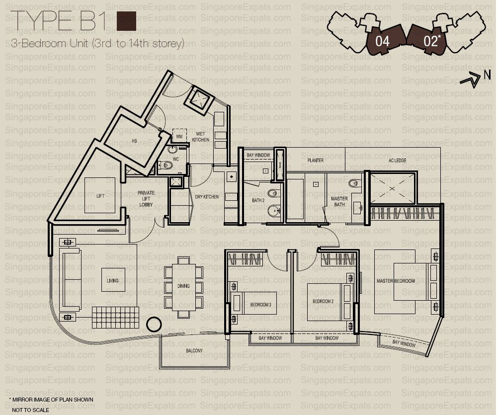 Type B1 Madison Residences Cool Apartments How To Plan Floor Plans