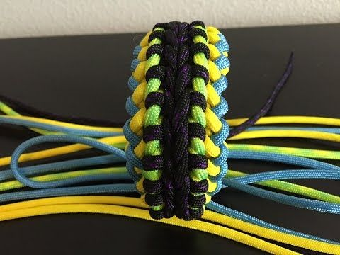 How to make a Modified Sanctified Paracord Survival Bracelet - BoredParacord.com - YouTube