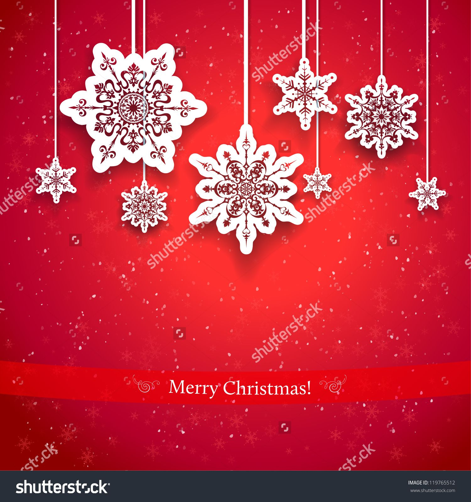 Red Christmas Design With Decorative Snowflakes Stock Vector Christmas  Designs Christmas Design Inspiration
