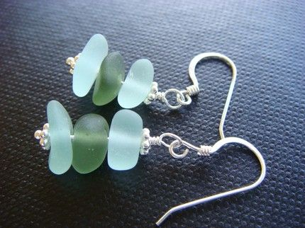 Superb and Stunning Glass Earrings Sea glass jewelry Glass