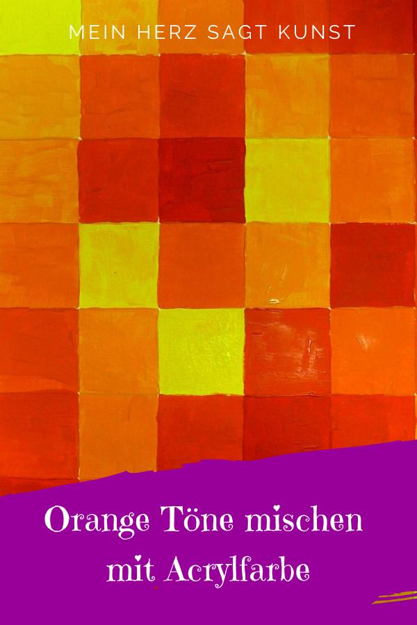 10++ Gruen und orange mischen Sammlung