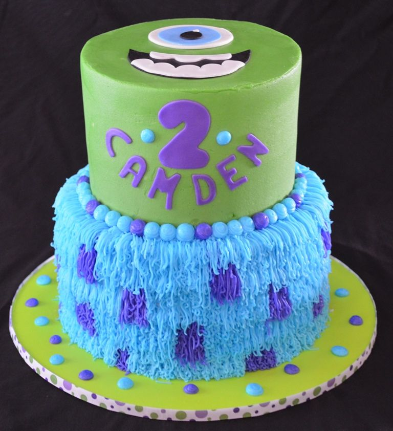 Monsters Inc Cake Bday Themes Pinterest Monsters Cake And