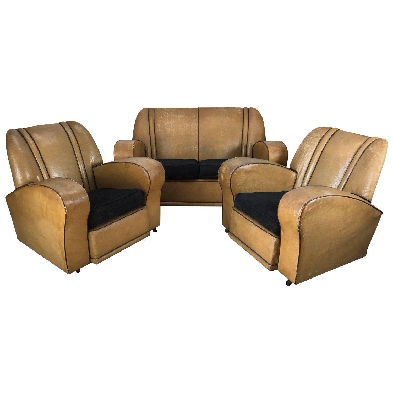 Best Three Piece European Art Deco Suite Matching Sofa And 400 x 300