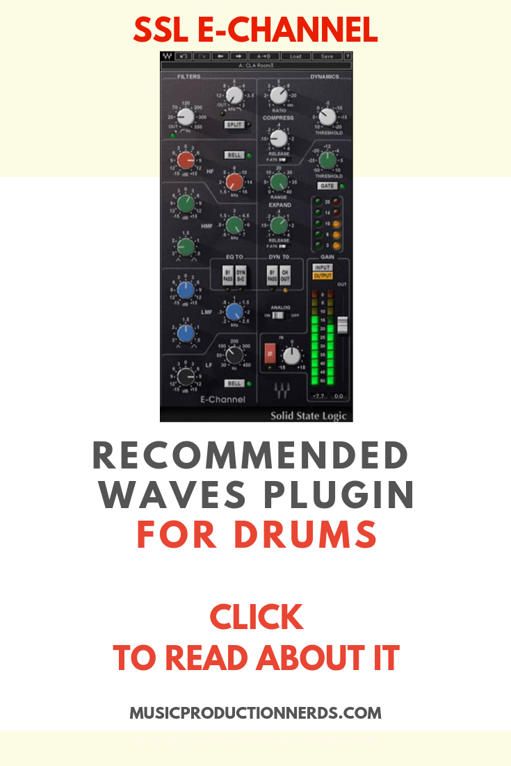 Ssl E Channel For Mixing Drums Waves Plugins Waves Audio Plugins