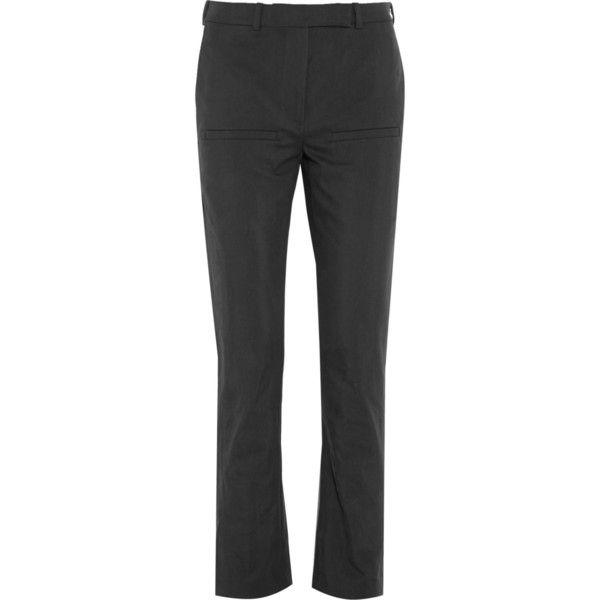 J.W.Anderson Cotton-blend twill slim-leg pants (5,620 MXN) ❤ liked