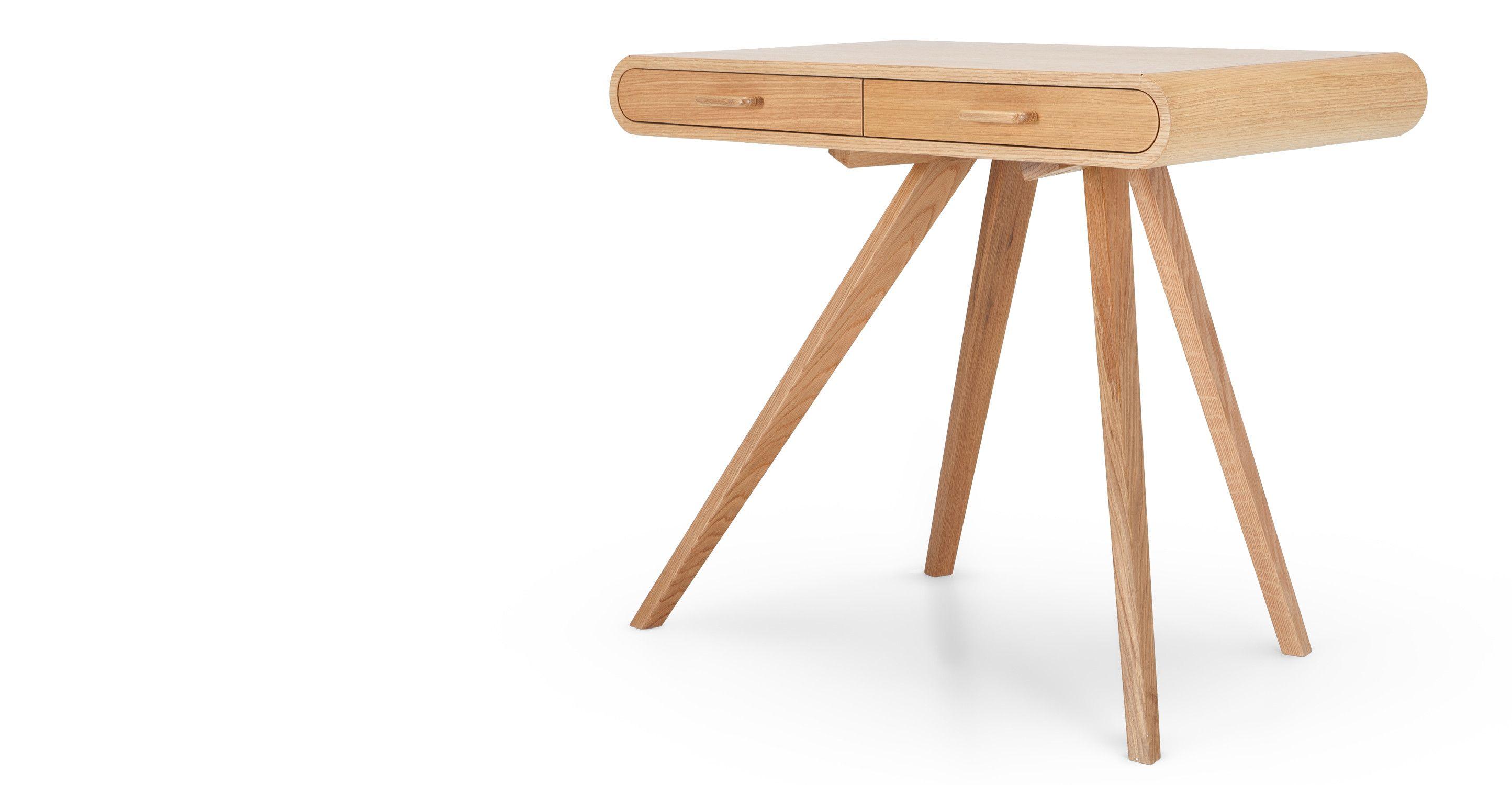 Greta Schreibtisch aus Eichenholz (www.habitat.fr)L.90 x H.73.5 x T ...