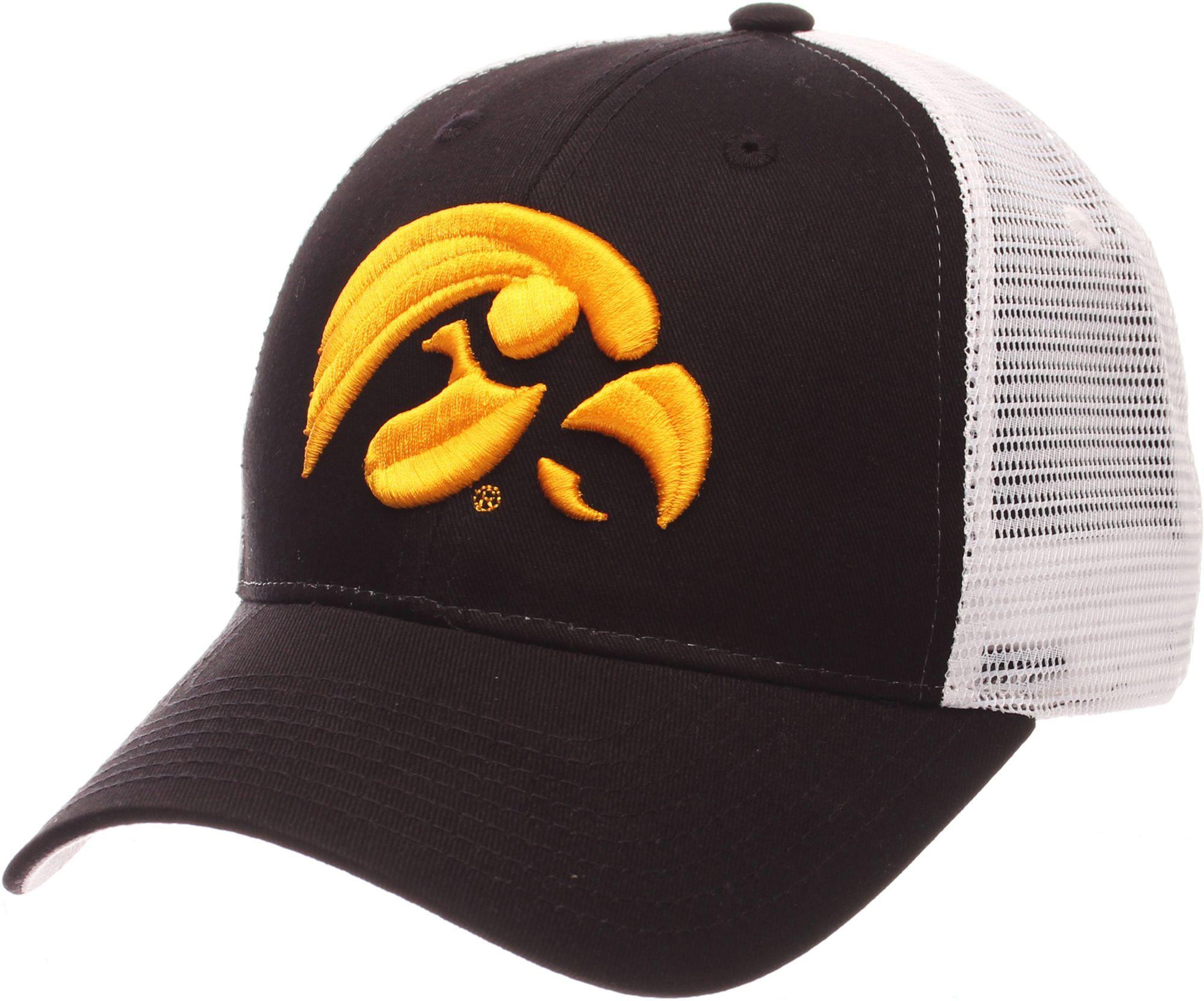 size 40 85820 2db90 Zephyr Men s Iowa Hawkeyes Black White Big Rig Adjustable Hat, Team