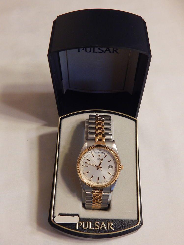 Pulsar Men s Date  Day Analog Quartz Stainless Steel Wrist Watch PVM006   Pulsar 396fb01ae34