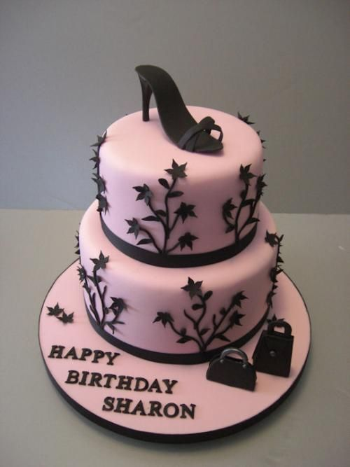 Cinderalla Shoe Happy Birthday Cake Images