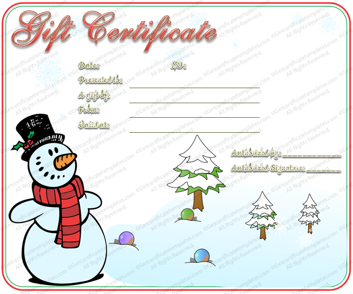 Christmas Gift Certificate Template 5 Awesome Christmas Gift Certificate  Templates To End Christmas Gift Certificate Template 11 Word Pdf Documents,  ...  Gift Voucher Template For Word