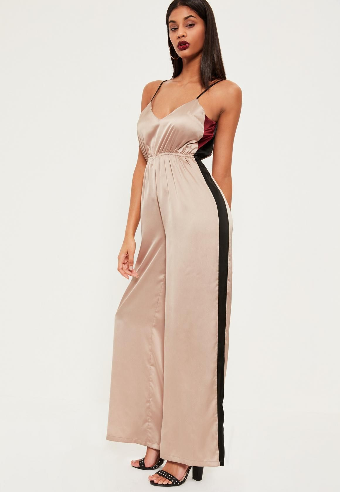 815dadcc53ae rose-gold-contrast-stripe-satin-wide-leg-jumpsuit.jpg (1160×1680 ...